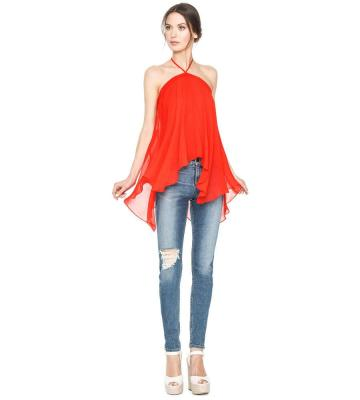 TISH TIE NECK TOP