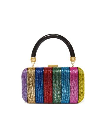 SHIRLEY RAINBOW STRIPE CLUTCH