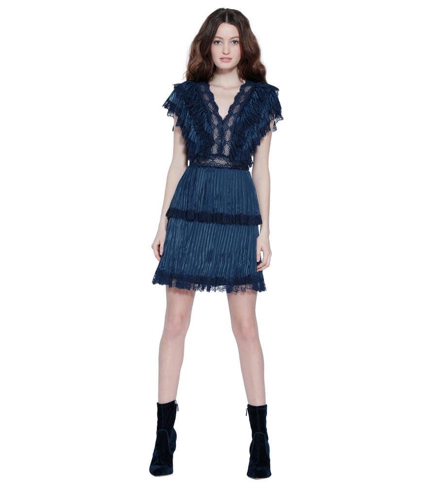 LANORA PLEAT TIERED DRESS