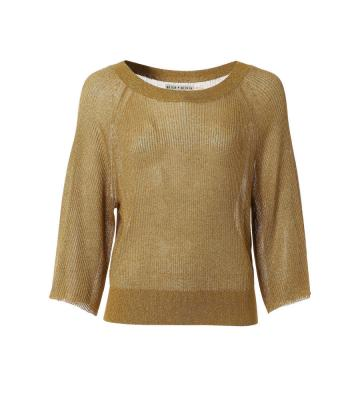 NAKITA OPEN NECK RIB SWEATER