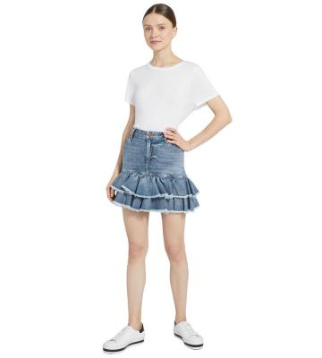 GOOD RUFFLE HEM SKIRT