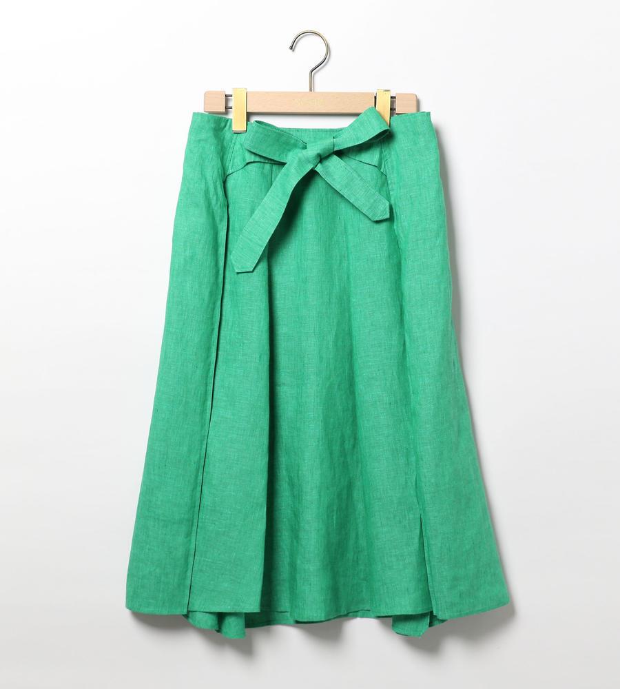 リネンシャンブレースカート