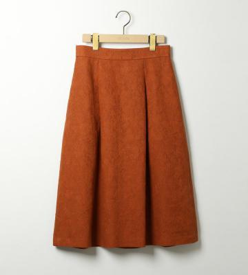 リネンラメジャガードスカート