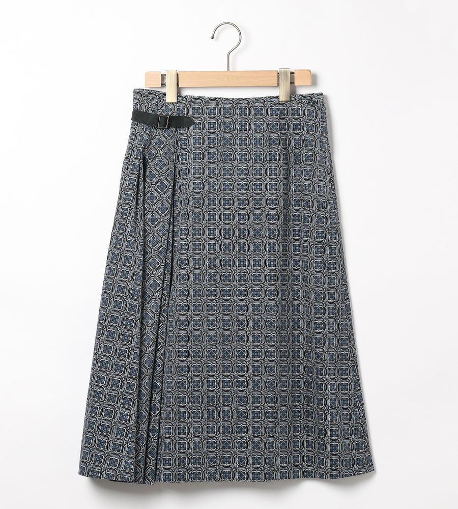 コ-デユロイプリントスカート