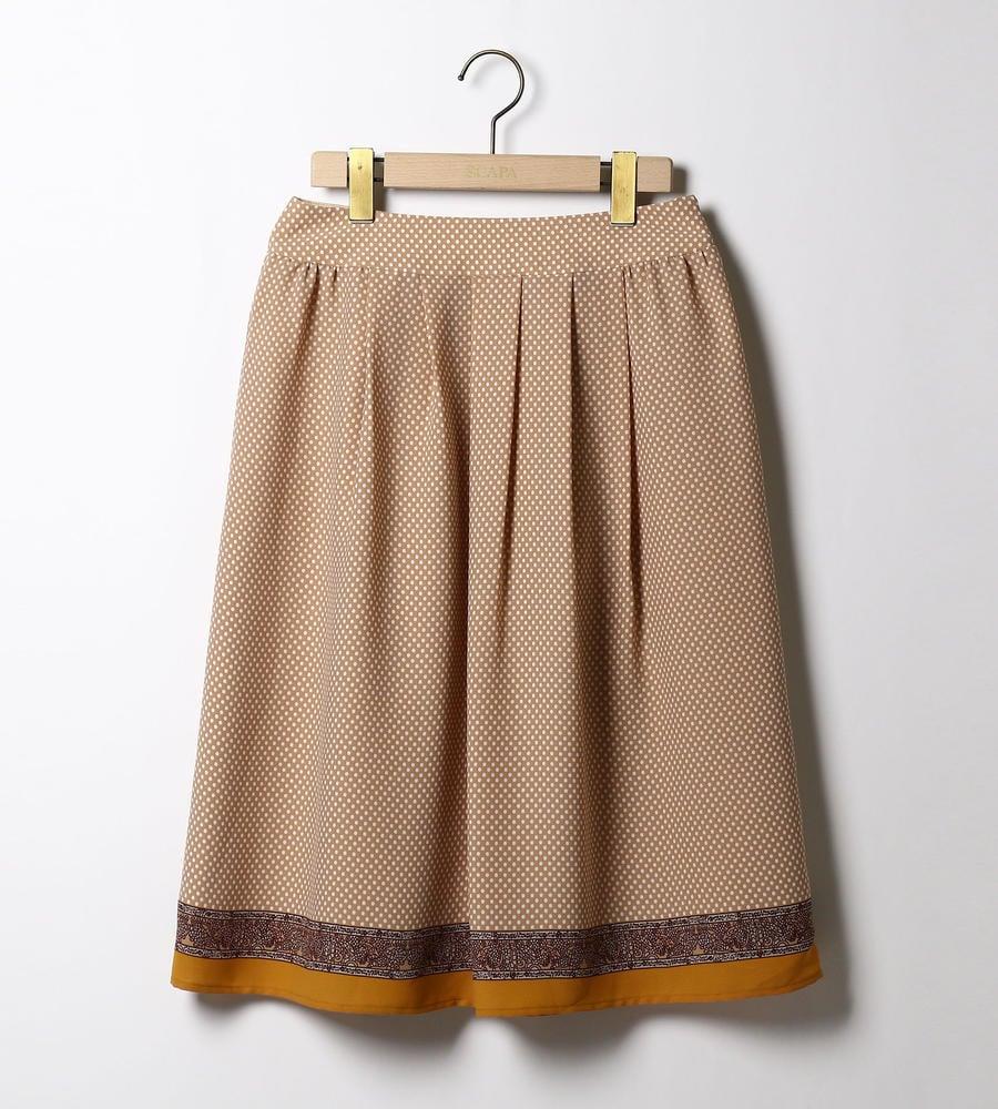 ドットペイズリープリント スカート