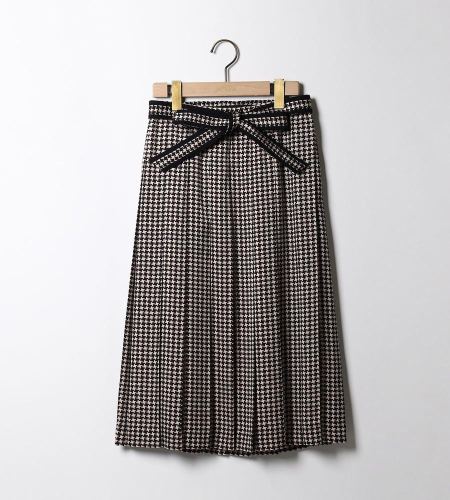 サテンチドリプリントスカート