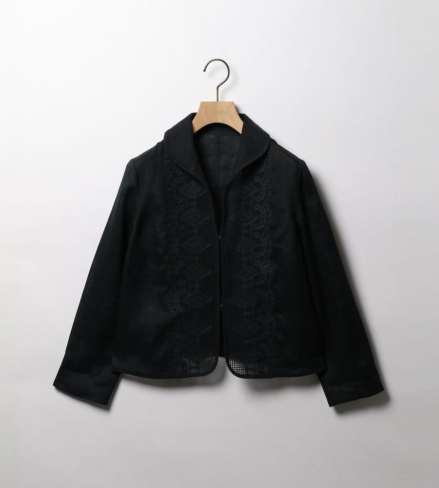 リネンレースジャケット