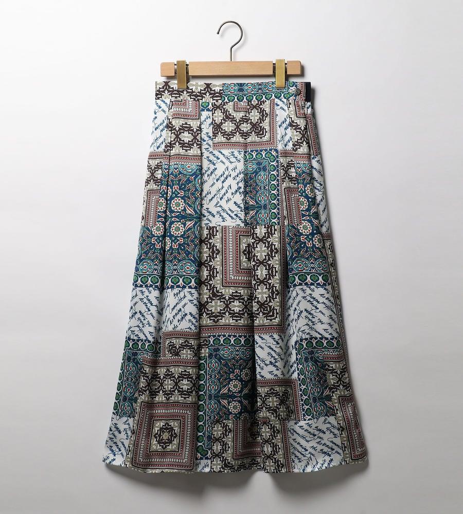 パッチワークプリントスカート