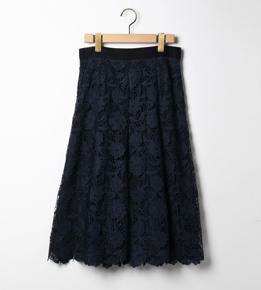 フラワーレーススカート