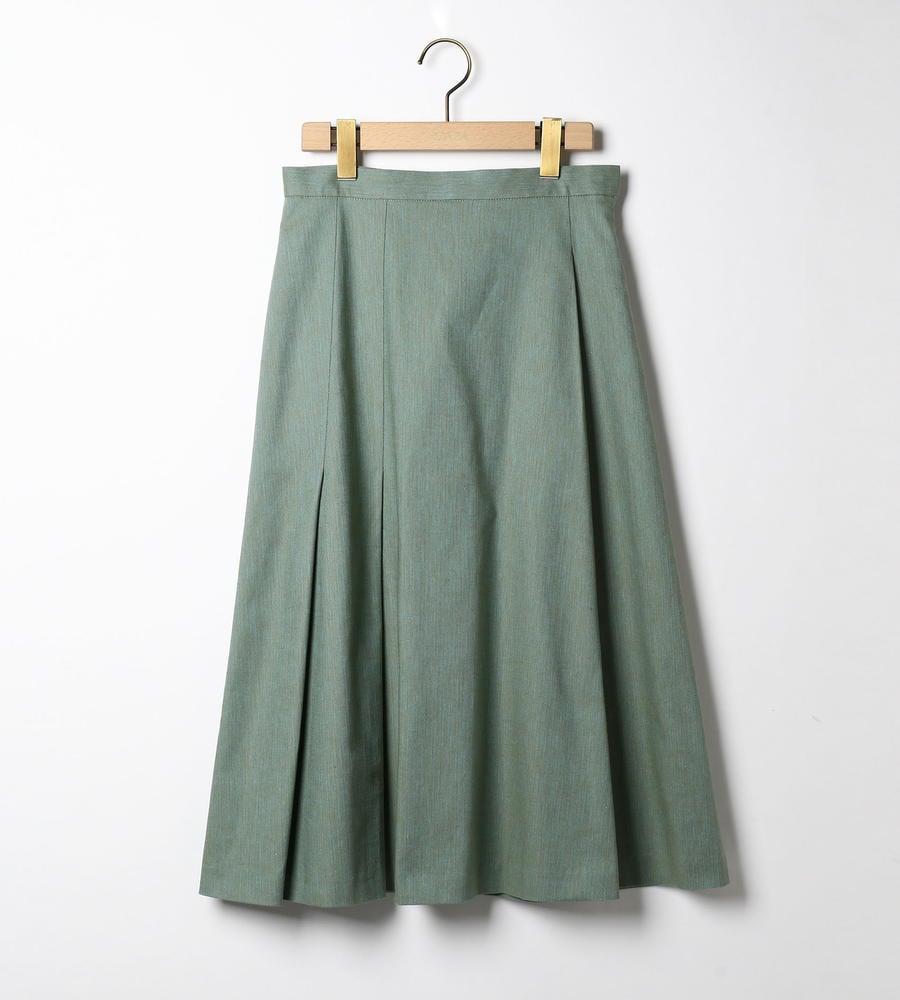 リネンヘリンボンツィードスカート