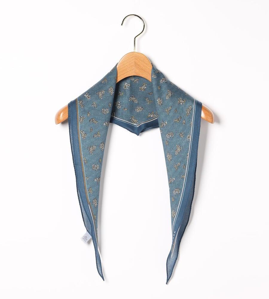 ヘリンボンペイズリースカーフ