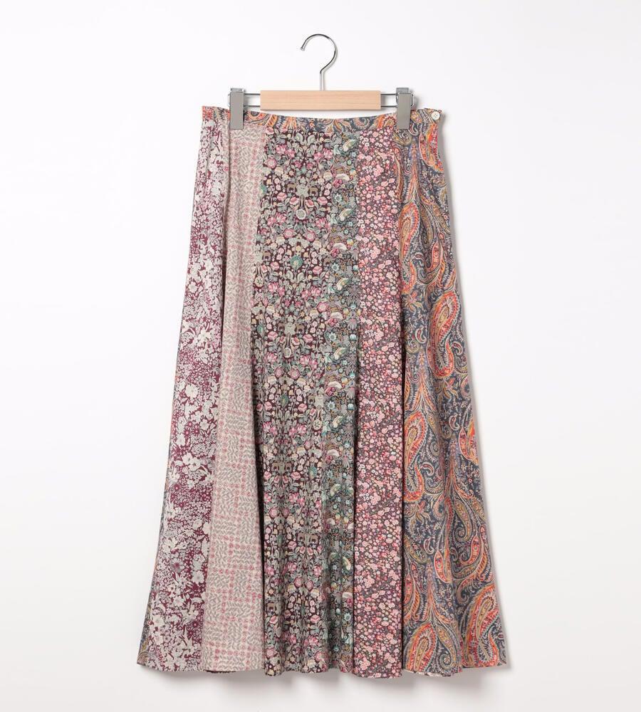 【WEB限定】リバティプリントパッチワーク2スカート