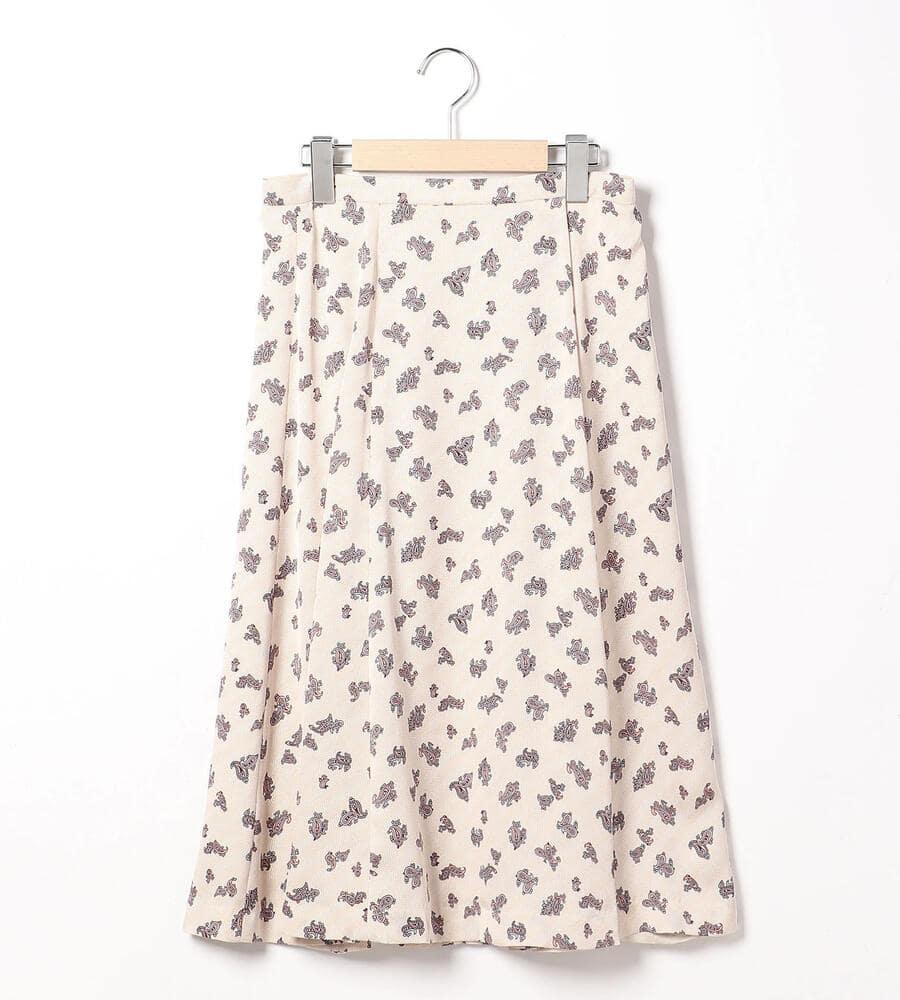 ヘリンボーンペーズリースカート