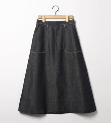 ウールリネンツイルスカート