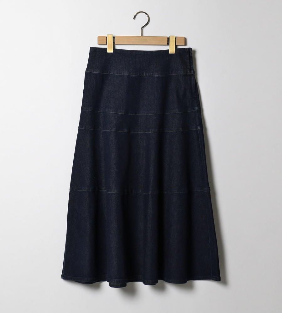 ハイブリッドデニム スカート