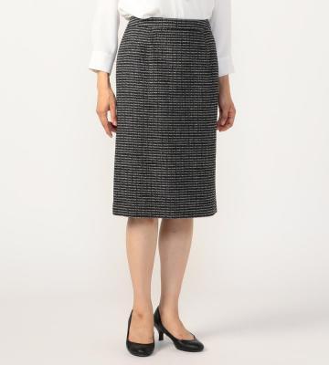 ラメツィード スカート