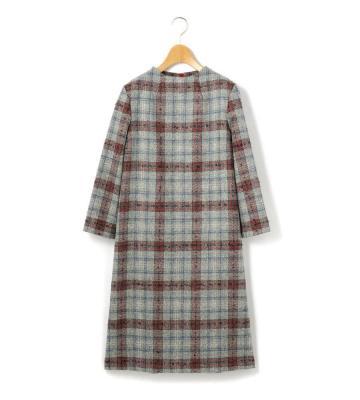ループキースチェック ドレス