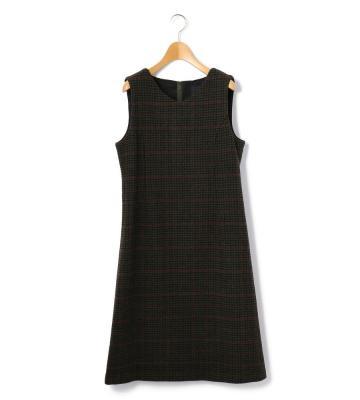 トップハウンドトゥース ドレス