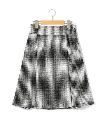 トップハウンドトゥース スカート