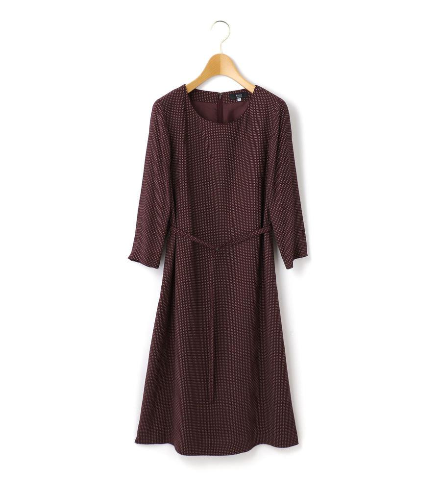 ピンドットツイル ドレス