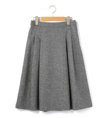 シルクネップツイード スカート