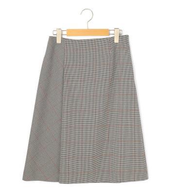 グレンチェックストレッチ スカート