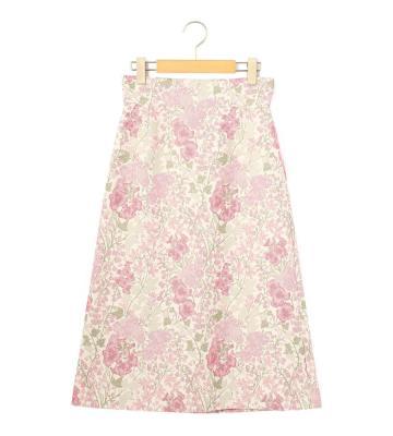 フラワージャカード スカート