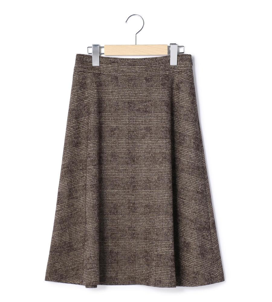 グレンチェックジャージー スカート