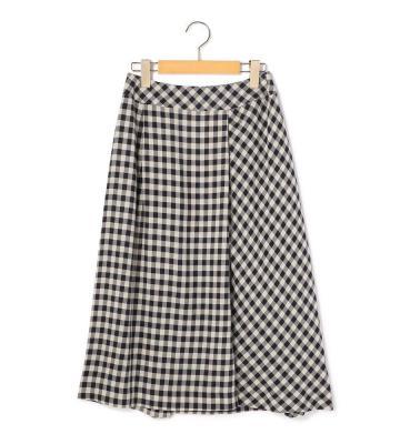 ブロックチェック スカート