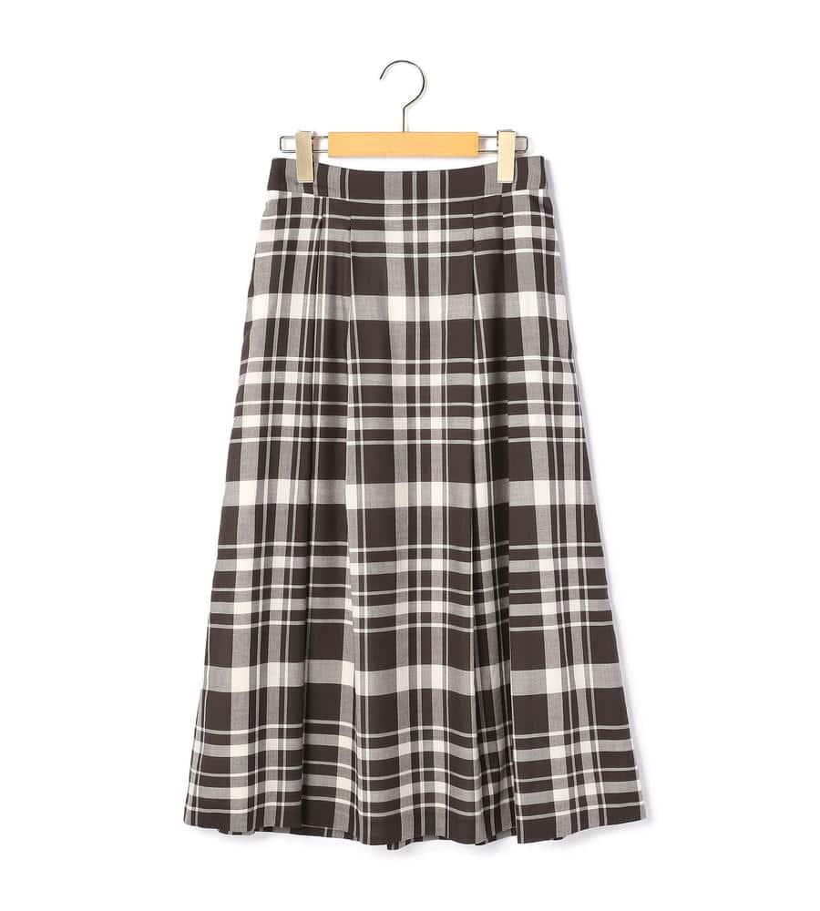 モノトーンビッグチェック スカート