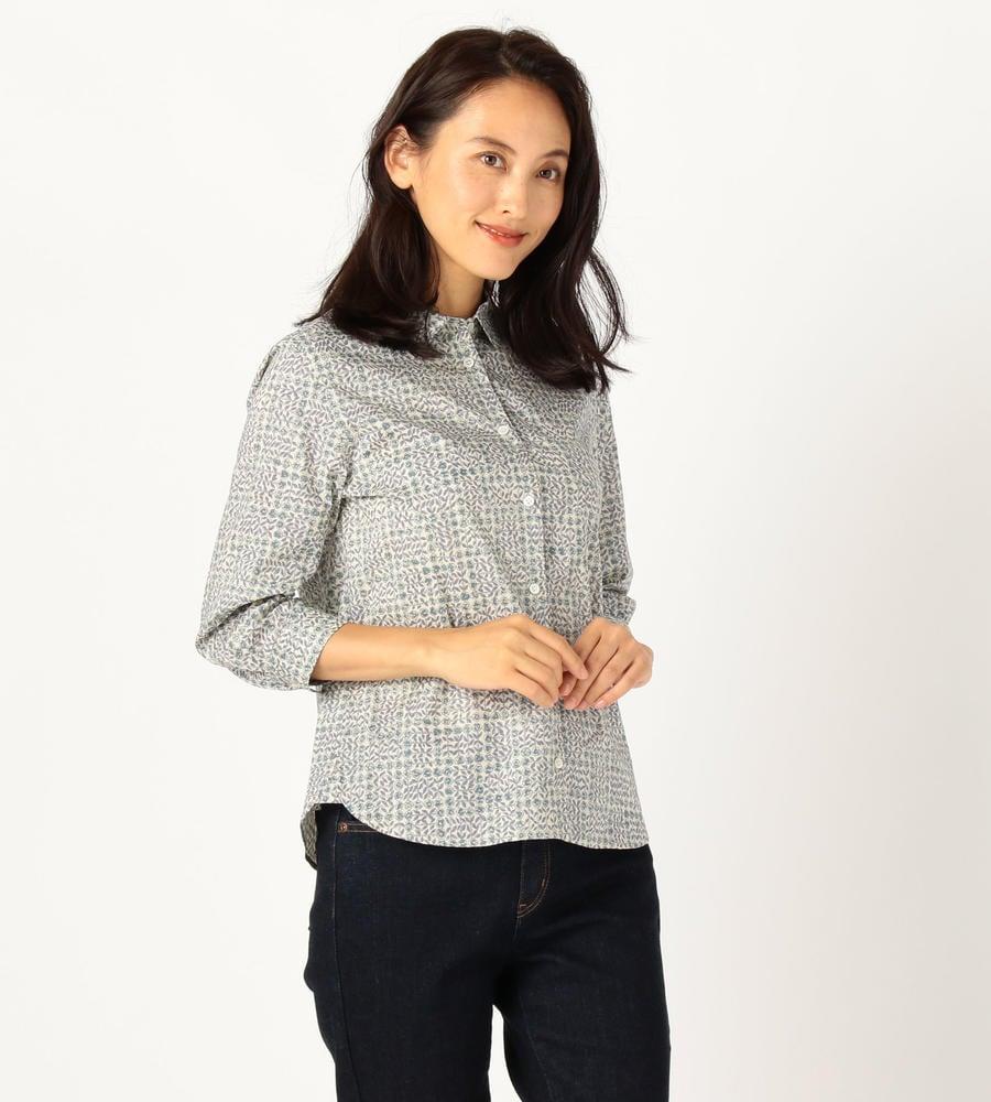 リバティプリント 七分袖シャツ