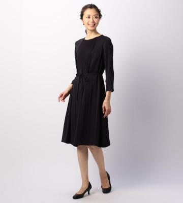 サテンジョーゼット ドレス