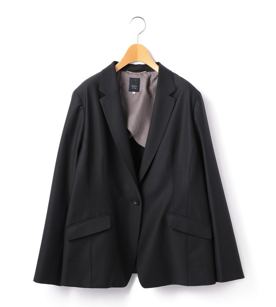 【50size~】ウールストライプ ジャケット