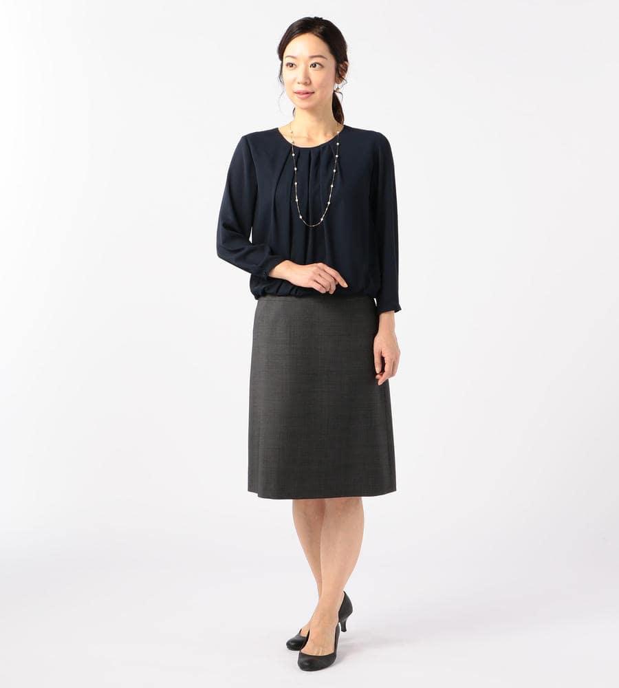 【50size~】ライトピンチェック スカート