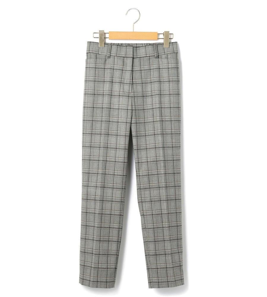 【50size~】スクエアチェック パンツ