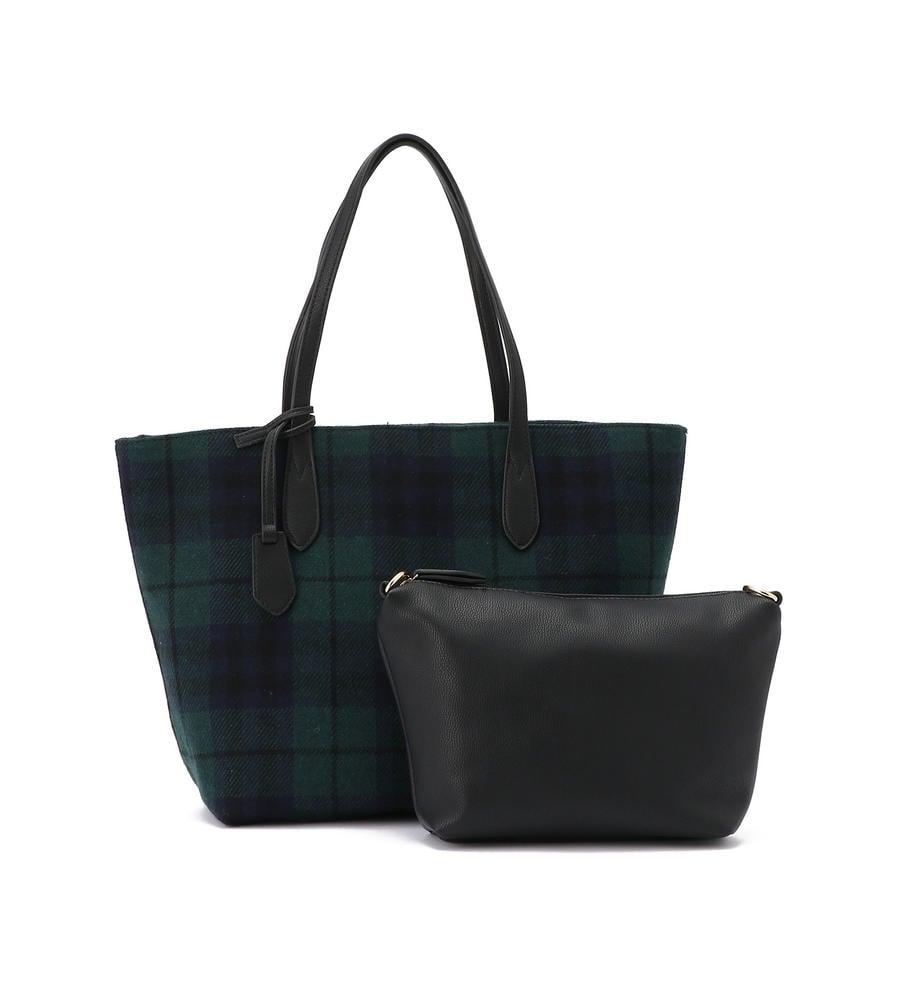 秋冬らしい起毛素材を使用したチェック柄のトートバッグ等新規商品入荷致しました。