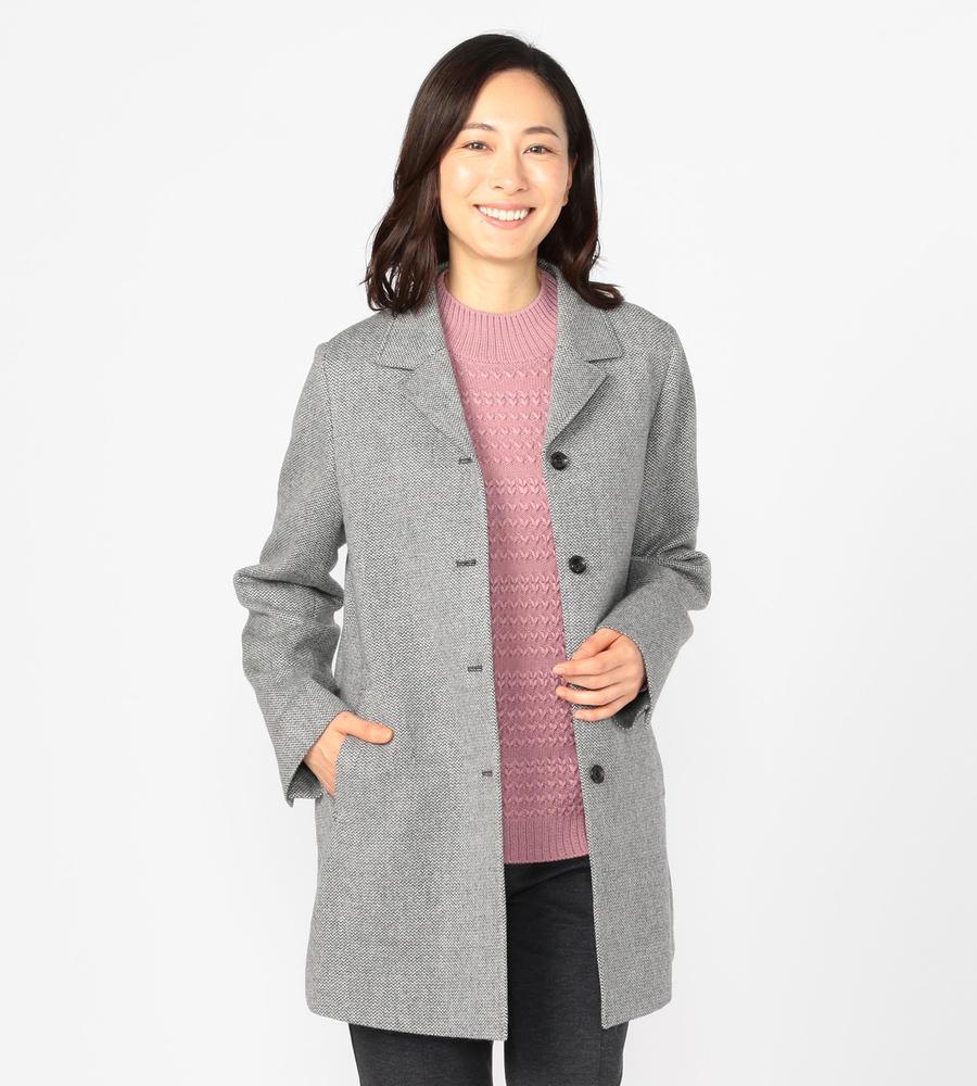 クラシックエレガントなツィード素材で仕立てたミドル丈のコート等新規商品入荷致しました。