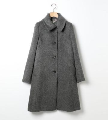 ウォーミーなアルパカ混素材を使用した毛足の長いシャギーウールコートを入荷致しました。