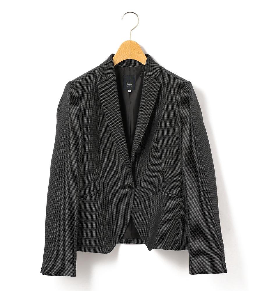 バーズアイ柄がこだわりを感じさせる、シルク混の生地で仕立てたノッチドラペルテーラードジャケット等新規商品入荷致しました。