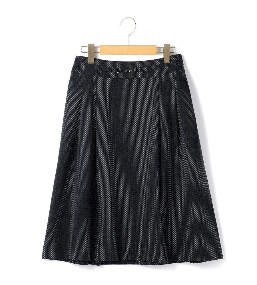 端正なピンドット柄が浮かんだドビー生地のスカート等新規入荷いたしました。