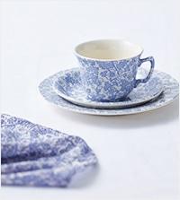 【KEITH】KEITH x BURLEIGH コラボレーションVol.1 陶器の繊細な柄をテキスタイルに【新作アイテム】