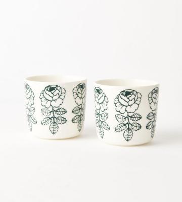 ウエディングローズをモチーフにしたVihkiruusu(ヴィヒキルース)柄のコーヒーカップセット等新規商品入荷いたしました。